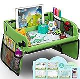 lenbest Kinder Reisetisch Kindersitz Spiel, Lernspielzeug für den Innenbereich mit 1 Transparenter Zeichnungsfilm + 5 Zeichenpapier + 6 Farbstifte - Zeichenbrett Geschenk für zu Hause, Schule, Reis