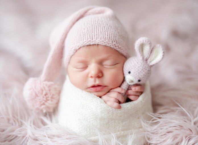 Baby als Motiv für die eigene Geburtskarte