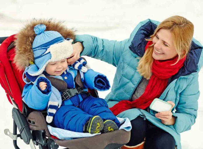 Mit dem Kinderwagen durch den Winter
